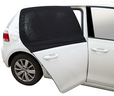 Halfords rear window sunshade 2 pieces small square black stretch fit sun block