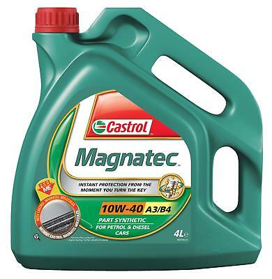 Castrol Magnatec SAE 10W-40 A3 B4 Motor Engine Oil Semi Synthetic 4 Litres