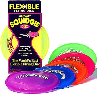 "Aerobie Squidgie Flying Disc 8"" Flexible Soft Comfortable Catches Outdoor Toy"