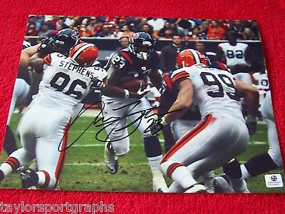ARIAN FOSTER HOUSTON TEXANS SIGNED 8X10 PHOTO GAI GLOBAL CERTIFIED