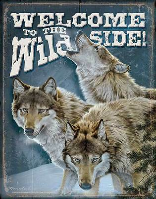 Wolves Tin Sign ~ Welcome To The Wild Side