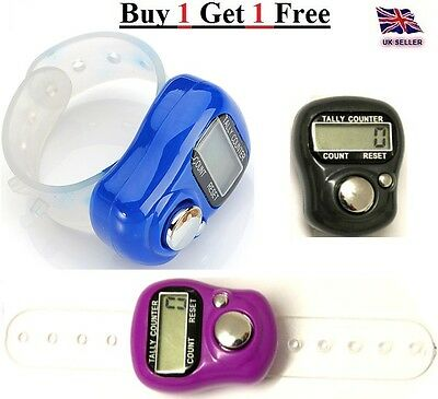 DIGITAL KNITTING ROW COUNTER FINGER RING TALLY COUNTING. Buy 1 Get 1 Free
