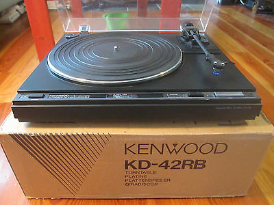 Vintage Kenwood KD-42RB Direct Drive Turntable-TESTED,Beautiful!