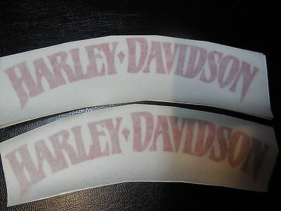 SET 2x6 INCHES OF HARLEY TANK DECALS RED IN COLOR
