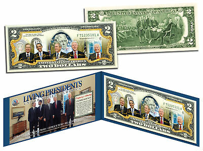 LIVING PRESIDENTS Legal Tender U.S. $2 Bill * OBAMA BUSH CLINTON Jimmy CARTER *