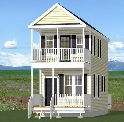 12x28 Tiny House -- 589 sqft -- 2 Story -- PDF Floor Plan