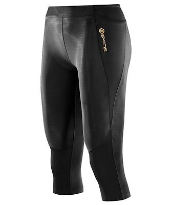 * NEW * Skins Compression A400 Womens 3/4 Tights (Black) + FREE AUS DELIVERY