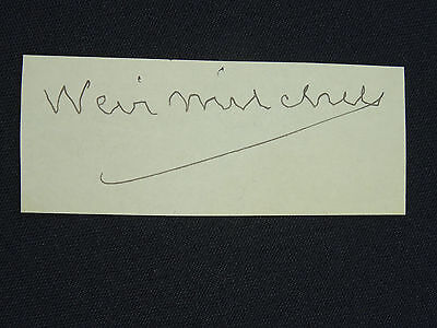 Rare Silas Weir Mitchell Signature Autograph On Paper