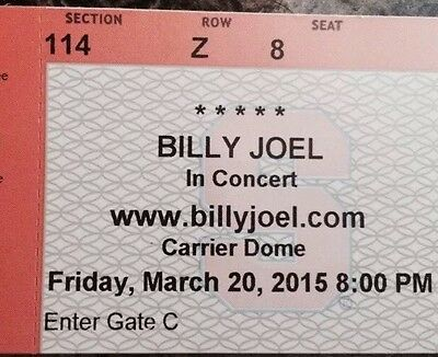 Billy Joel Syracuse, NY March 20, 2015-Concert tickets