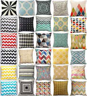 Variety Vintage Linen Cotton Cushion Covers Throw Pillow Case Home Sofa Decor
