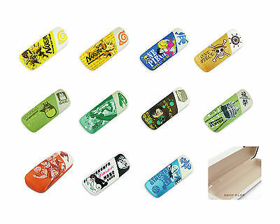 Mixed Colors PU Glasses case/eyewear case printed with classical Anime figures