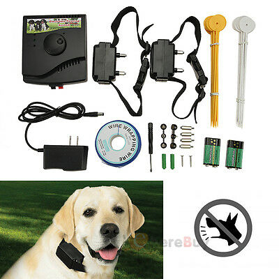 2015 New Underground Waterproof 2 Shock Collar Electric Dog Fence Fencing System