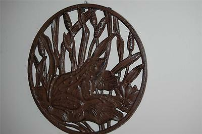 Vintage Style Rustic  Finish Cast Iron FROG Garden Step Wall Decoration Plaque