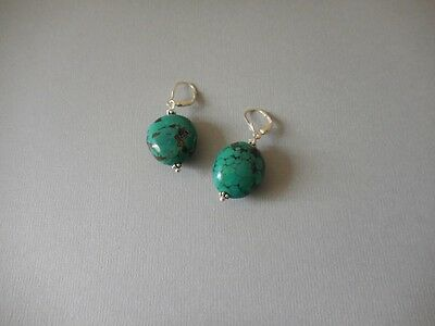 Boucles cailloux Turquoise