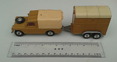 SALE: Rare Original Corgi Land Rover 109 WB + Rice Pony Trailer (incl Horse) VGC