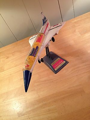 Vintage Tin and Plastic Toy Concorde F-WTSS Jet by Alps Made In Japan