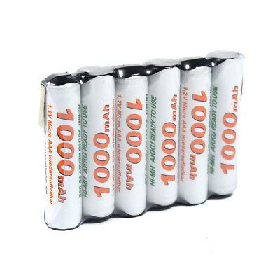 OEGE Akkupack 7,2V 1000mAh Ready to Use Technik Micro AAA in Reihe mit Lötfahne