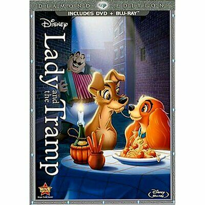Lady & The Tramp Lady and The Tramp DVD Blu Blu-ray Combo Pack DVD/Blu-ray