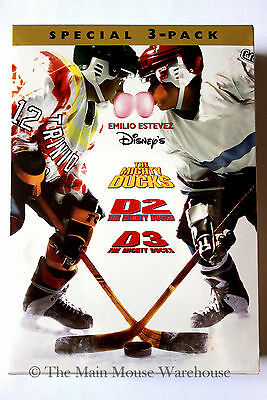 Disney The Mighty Ducks Trilogy D1 D2 and D3 Complete Movie Collection on DVD