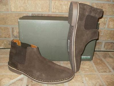 NEW KENNETH COLE DESERT SKY MENS CHUKKA SUEDE LEATHER BOOTS-CHOCOLATE /MSRP $98