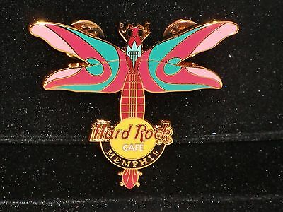 Hard Rock Cafe Memphis Dragonfly Guitar 2004 500 Limited.Edition Pin