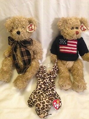 Original Ty Bears & Beanie Lot - Bearington, Grant, Freckles - all new with tag