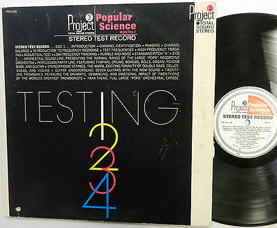 PROJECT 3 Popular Science TESTING 1 2 3 LP Stereo Test Record