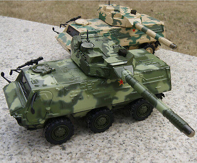 1/43 Toy Vehicle Green Camo 6-wheeled armored tanks chariot alloy tanks model