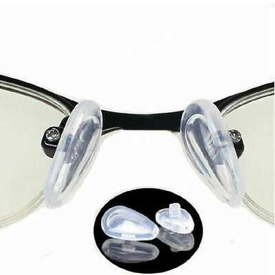 50 Pairs Screw-On Type Silicone Eyeglass Sunglass Glasses Nose Pads