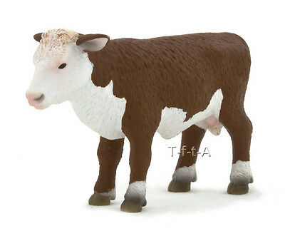 FREE SHIPPING | Mojo Fun 387068 Hereford Calf Standing Replica - New in Package