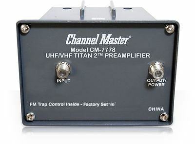 Channel Master CM-7778 Titan2 VHF/UHF Preamplifier with Power Supply - NEW