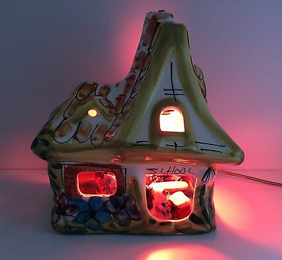VINTAGE RETRO 1970s DEREK FOWLER CHELSEA STUDIO TABLE NIGHT LAMP SHABBY CHIC BED