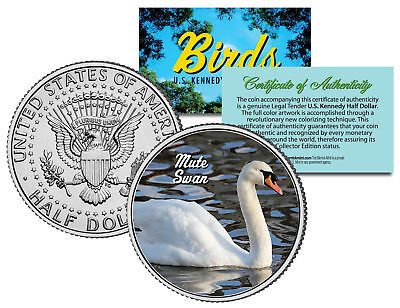 MUTE SWAN ** Collectible Birds ** JFK Kennedy Half Dollar Colorized U.S. Coin