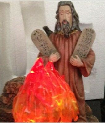 Talking Moses and the Burning Bush religious statue