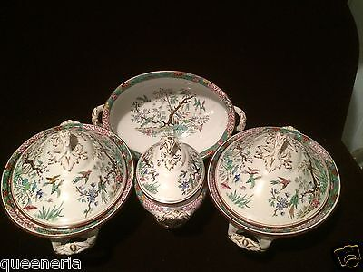 c1870 Set STAFFORDSHIRE Bishop Powell Serving Pieces Ironstone Chinoise