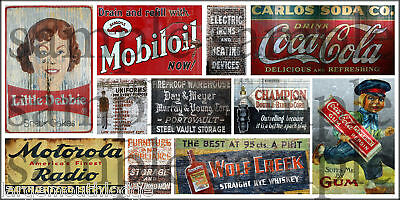 HO SCALE WEATHERED BUILDING GHOST SIGN DECALS #15a