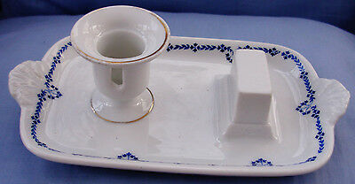 NICE ANTIQUE PORCELAIN MADE IN GERMANY FOR L. BARTH & SONS CANDLE & MATCH HOLDER