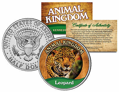 LEOPARD * Animal Kingdom Series * JFK Kennedy Half Dollar U.S. Coin