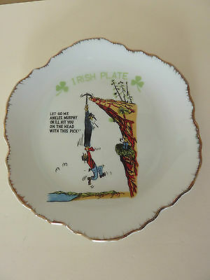 Vintage Irish Joke Ceramic Collector Plate With Great Graphics Good Condition
