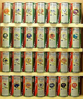 Canada Dry Set Collection of 28 NFL Football S/S  Steel Soda Pop Cans BE83