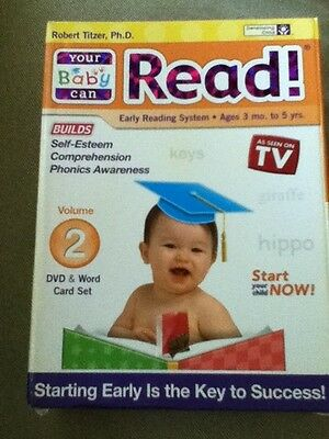 Your/My Baby Can Read! Volume 2 DVD & Word Card Set Early Reading System