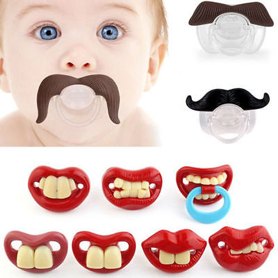 Hot Funny Dummies Pacifier Baby Novelty Maternity Toddler Child Teething Nipples