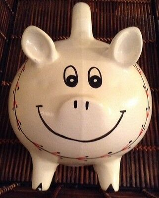 Hand Painted Piggy Bank Made In Mexico - In Baseball Design