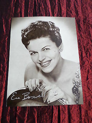 Eve Boswell  - Music Artist - 1 Page  Picture- Clipping/cutting