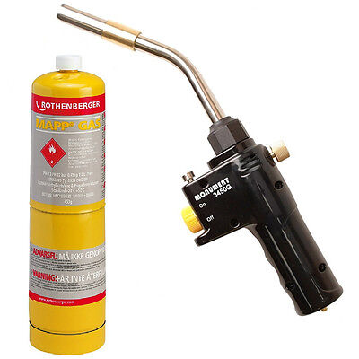 Monument 3450G Plumbers Brazing and Soldering Gas Torch + MAPP Gas Plumbing Kit