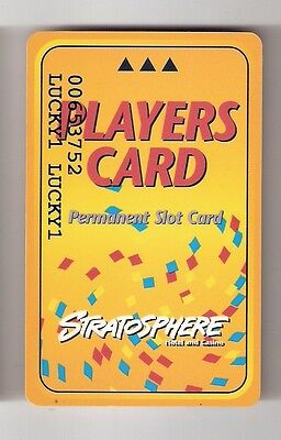 STRATOSPHERE Slot Card / Players Club Card Casino LAS VEGAS -Permanent Slot Card