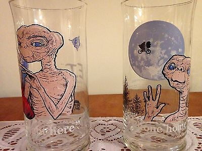 E.T. extra-terrestrial 1982 Pizza Hut drinking glasses
