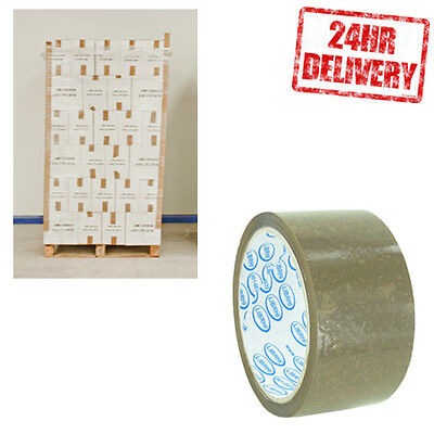 1 Pallet (90 Boxes) LIBRHI Brown Buff 48mm x 66m Parcel Packing Tape CLEARANCE