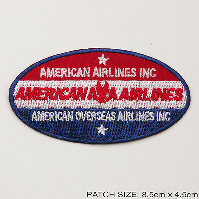 "AMERICAN AIRLINES ""AA LOGO"" Company Logo Embroidered Iron-On Patch!"