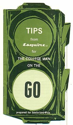 1950's Tips from Esquire for The College Man on the Go - Sanforized-Plus